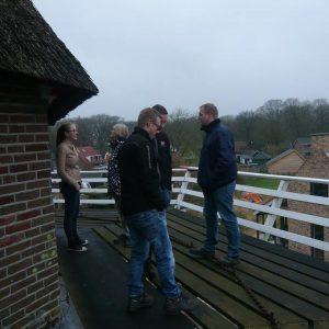 Friese molenaars op bezoek bij molen Zeldenrust in Zuidbarge
