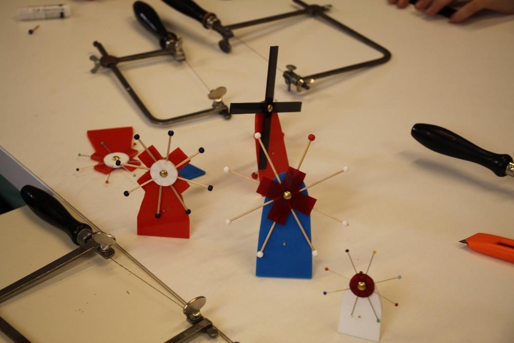 producten van leerlingen uit het Molenlab
