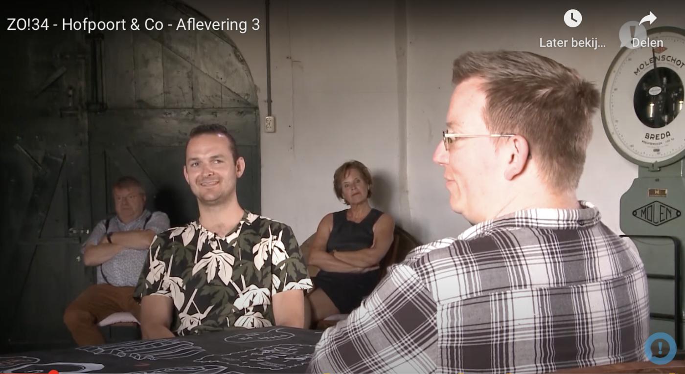 Molenaars Marijn en Vincent tijdens talkshow in de Bente