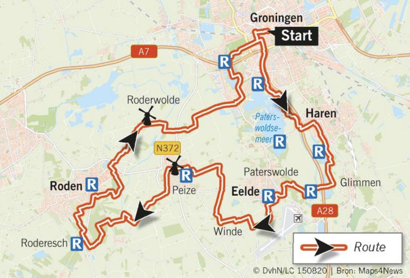 Fietsroute Kop van Drenthe Leeuwarder Courant