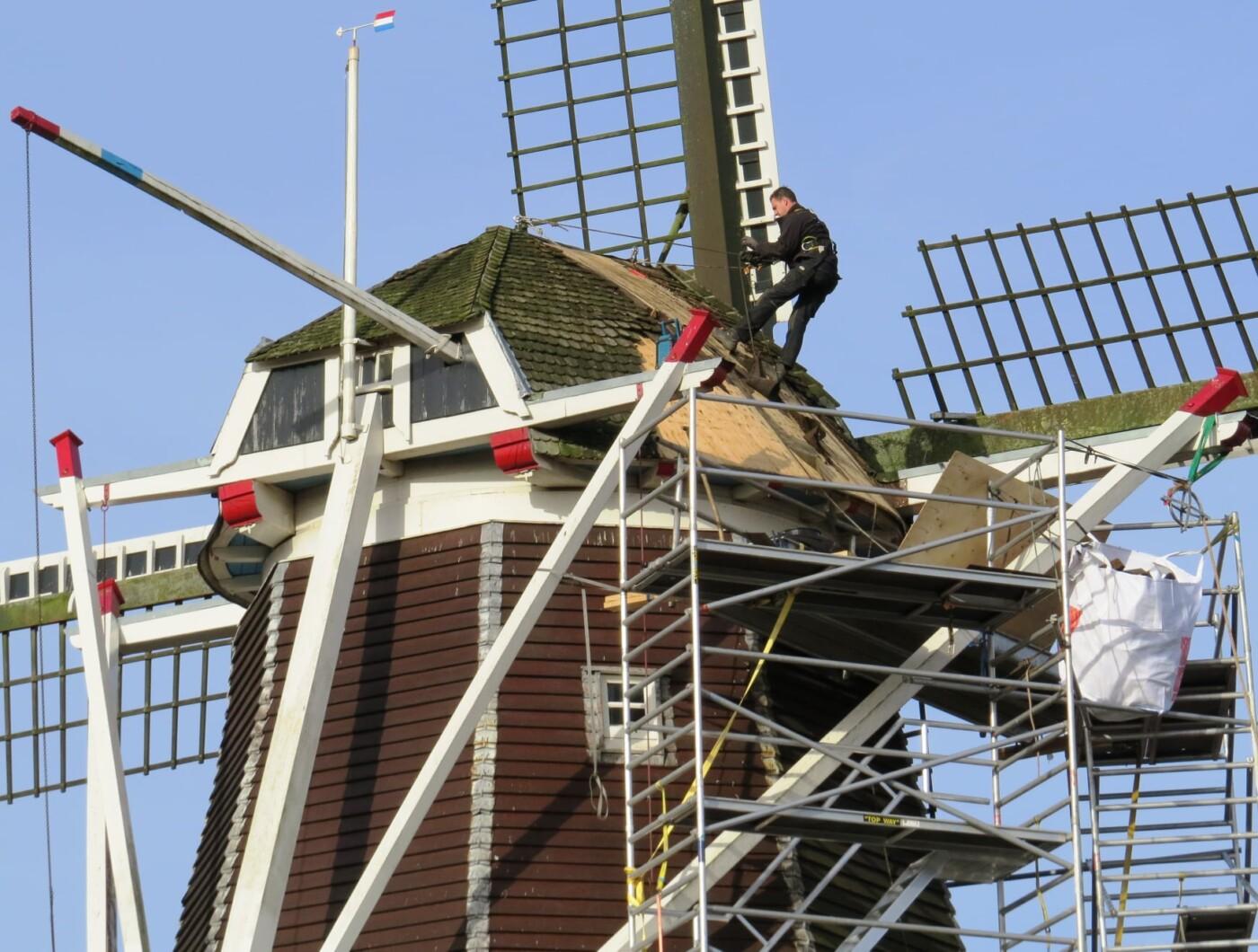 vervangen dakbedekking molen de Vlijt