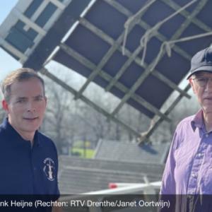 Hans Geerdink en Henk Heijne grenszicht Emmer-Compascuum