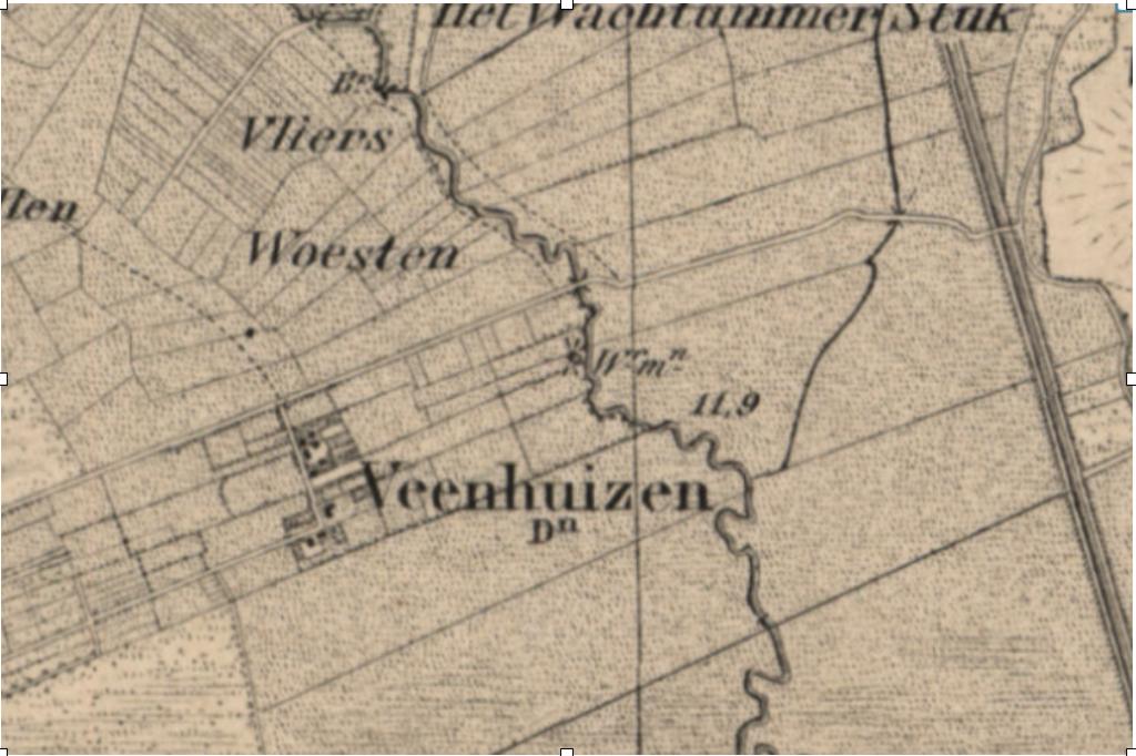 Buurtschap de Veenhuizenn rond 1880